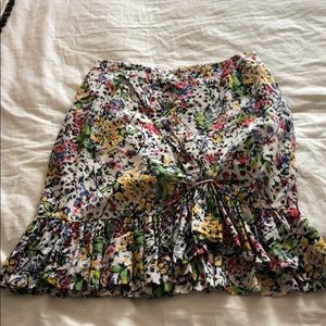 Anthropologie floral Skirt size 12